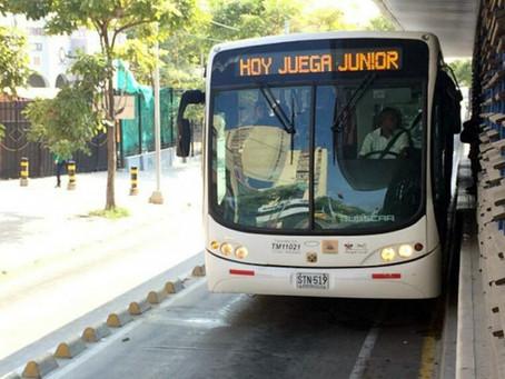 Transmetro tiene lista operación por partido de Junior