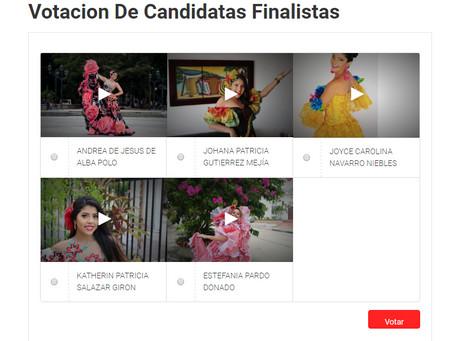 Abiertas las votaciones para elegir a la Reina del Carnaval de la 44