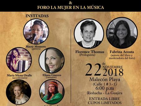 Con literatura y música, las mujeres en Riohacha se toman la palabra