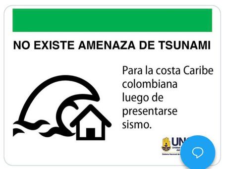 Dimar descarta tsunami en la costa Caribe colombiana