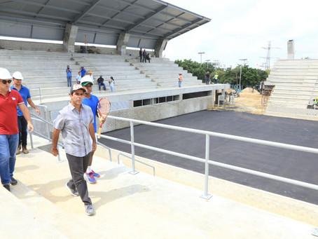 Avanzan obras del parque de Las Raquetas para los Centroamericanos