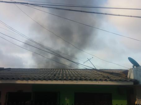 Bomberos atendieron incendio en fábrica en Barranquilla