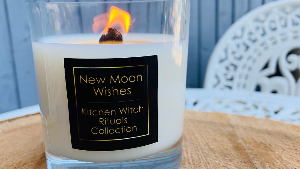 New Moon Wishes Ritual Candle