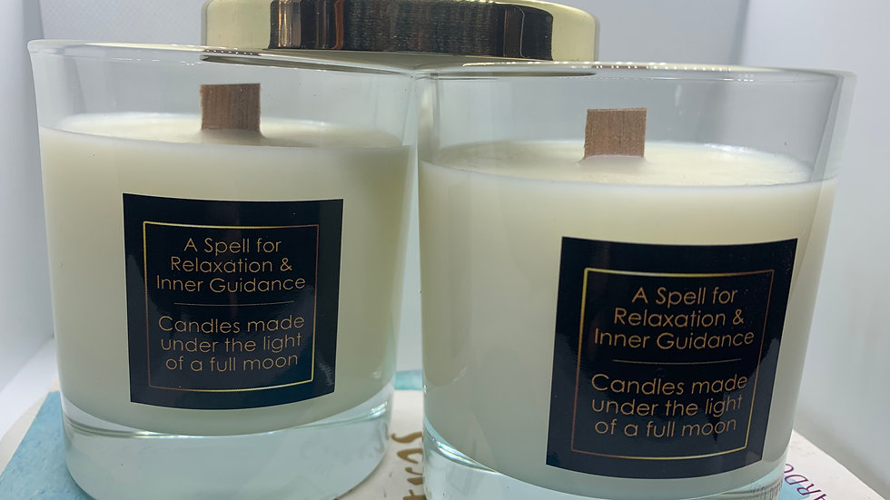 A Spell for Relaxation & Inner Guidance  - Hand Poured Soy Wax Candle