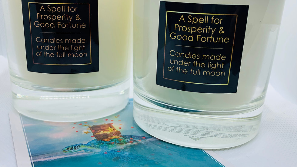 A Spell for Prosperity & Good Fortune - Hand Poured Soy Wax Candle