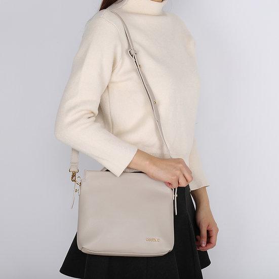 Petite Light Grey Color Pebble PU Faux Leather Small Shoulder Bag