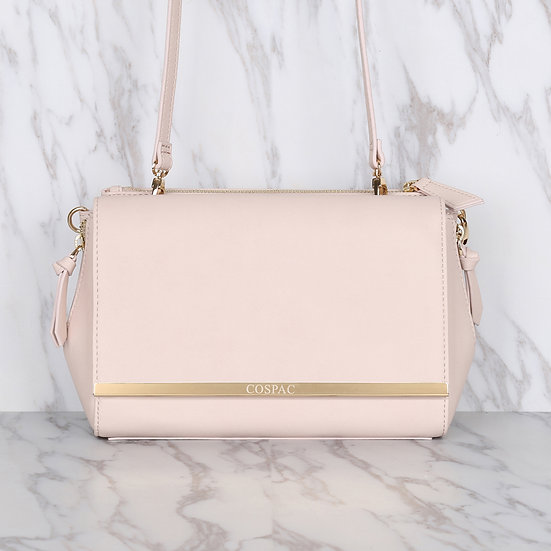 DAY BAG – Light Pink Color Vega Leather Chain Shoulder Bag Set