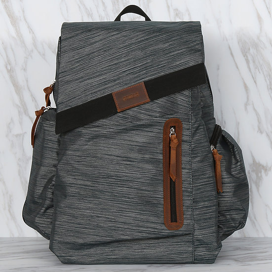 Waterproof polyester grey color multi compartments men backpack