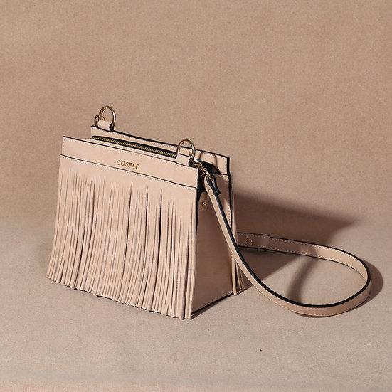 TASSO BOX Camel Color Square Shoulder Bag