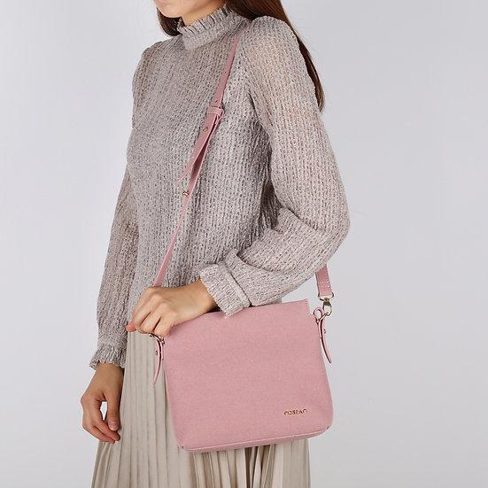 Petite Pink Color Suedette Leather Shoulder Bag