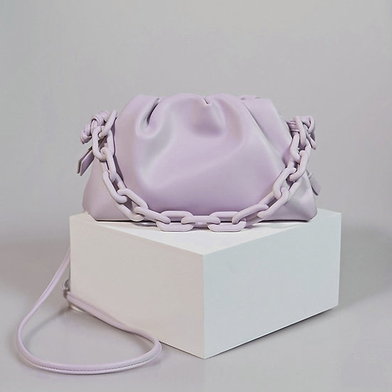 Marshmallow purple color sling bag for women