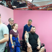 Mario, Robbie and I with Eddie Hall
