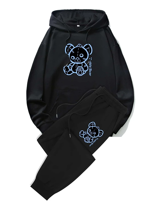 Teddy Bear Graphic Hoodie + Sweats
