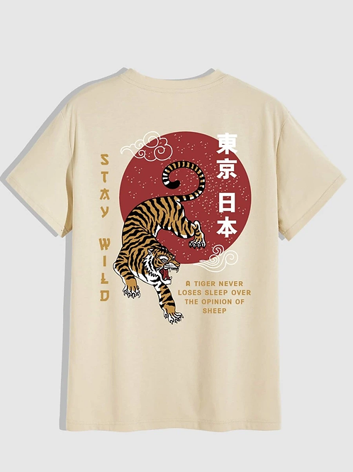 Stay Wild Tiger Graphic T-Shirt