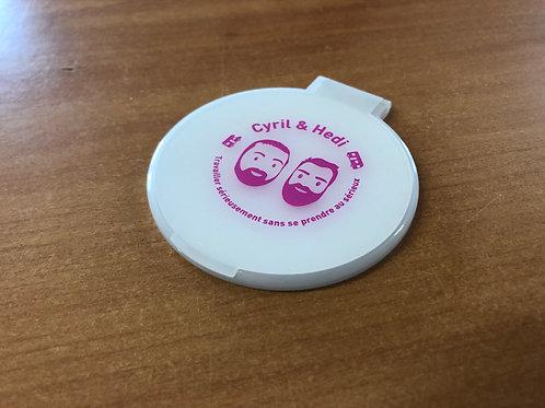 """Miroir de poche """"Cyril et Hedi"""""""