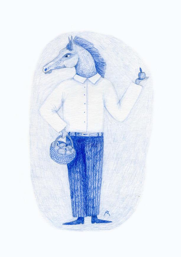 L'homme à tête de cheval
