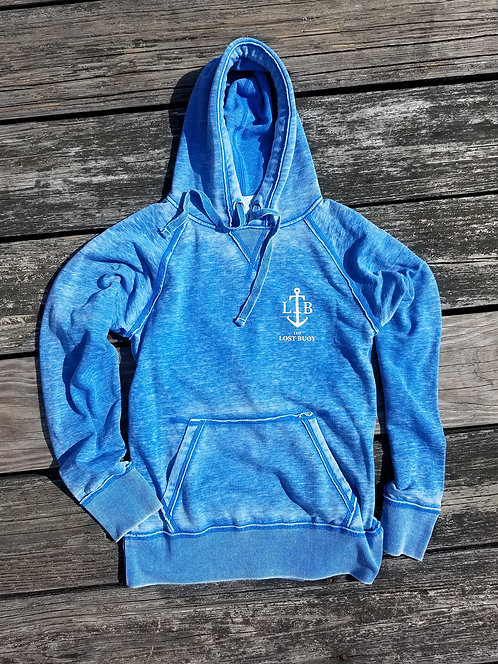 Blue Salt Washed Hoodie
