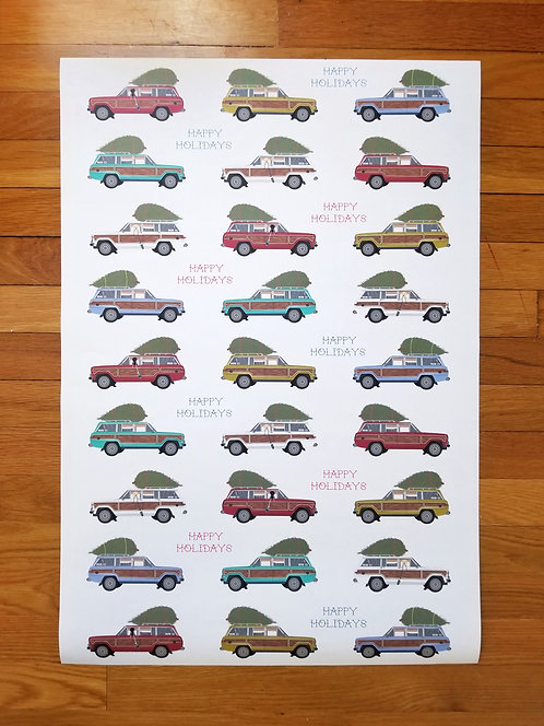 3 pack Holiday Wagoneer Wrapping Paper