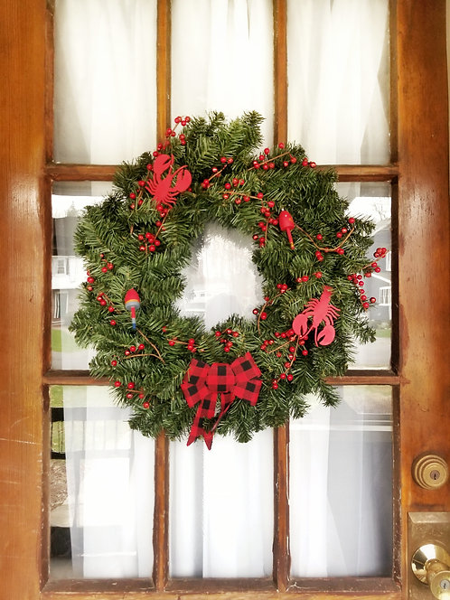 Lobster Buoy Holiday Wreath