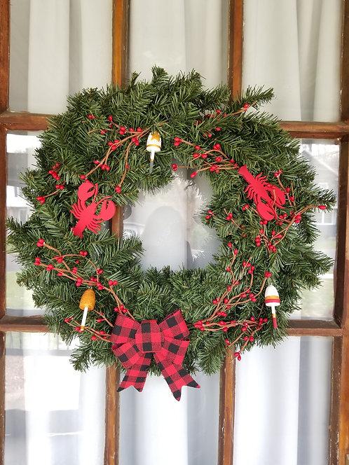 Lobster Buoy Holiday Wreath