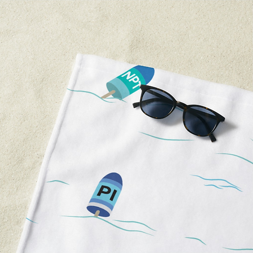 White Buoy Towel
