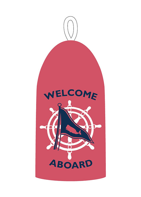 Vintage Welcome Aboard Buoy