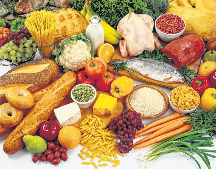 verduras, legumbres y pastas