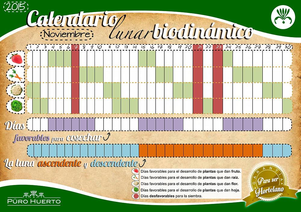 Calendario Lunar Noviembre