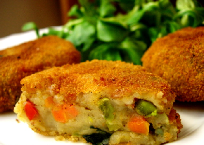 Escalopes verduras