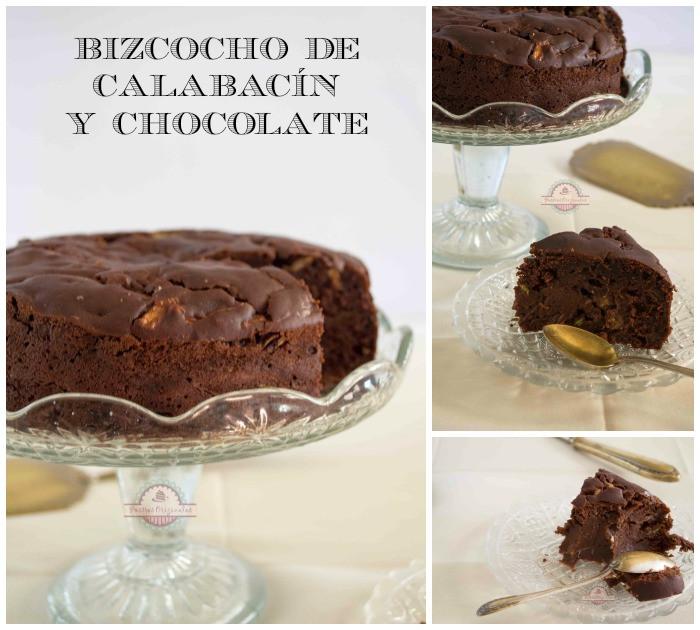 Bizcocho calabacín y chocolate