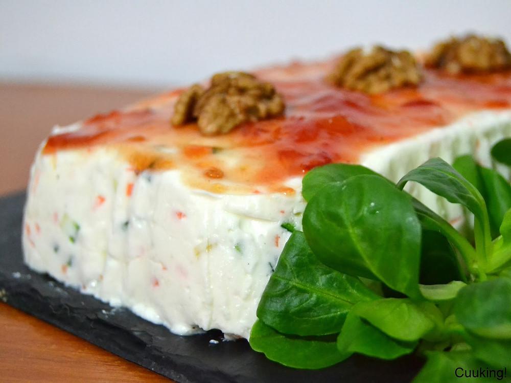 pastel queso y verduras
