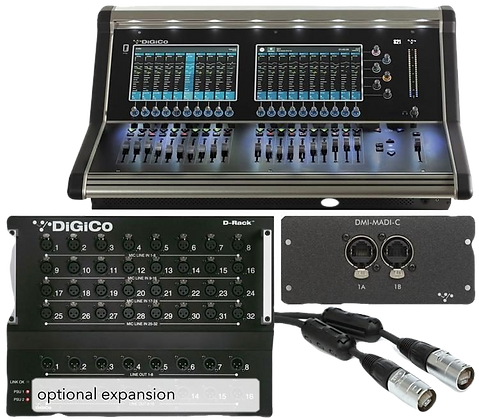 DiGiCo S21 Digital Console w/ D-Rack Pack Stage Box