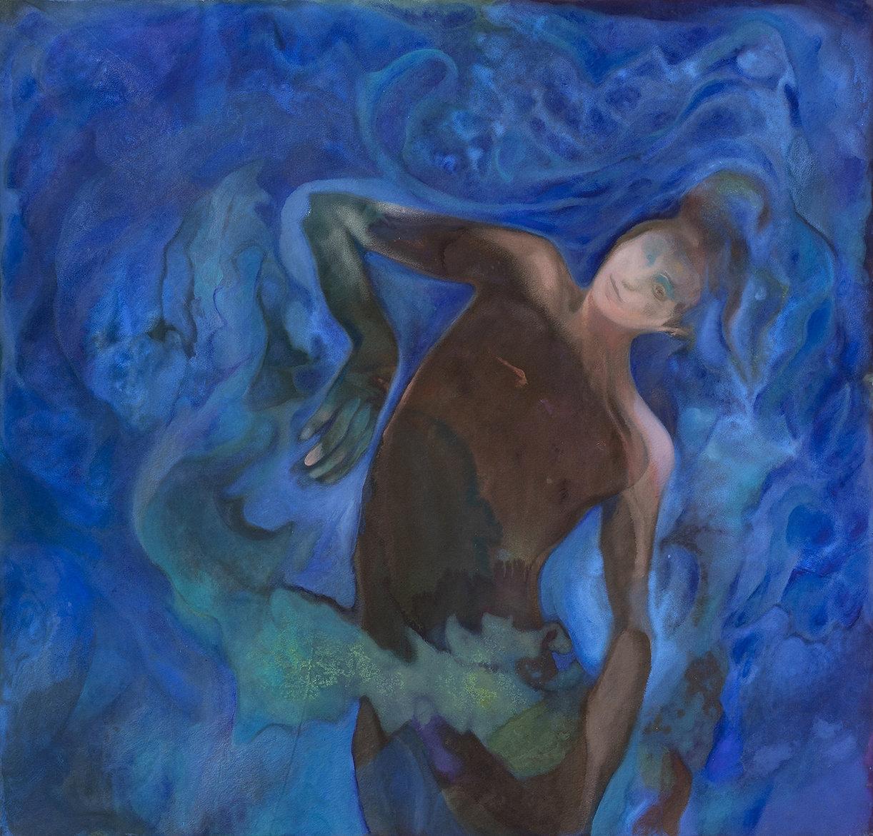 Untitled (Moving Blue - Magician) 2021 o