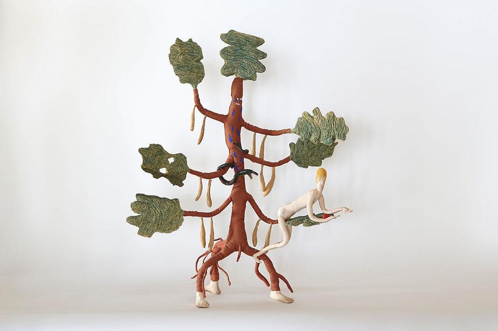 מרב קמל וחליל בלבין, עץ הדעת, 2021, 67X5