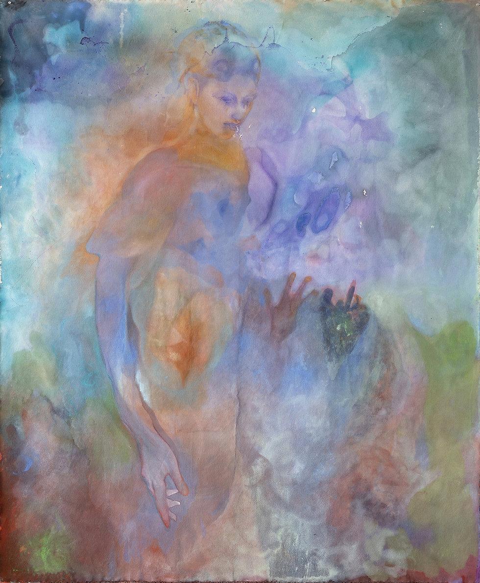 Untitled (Bug Lady Fairy) 2021 oil on ca