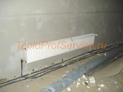 Монтаж радиатора в гараже
