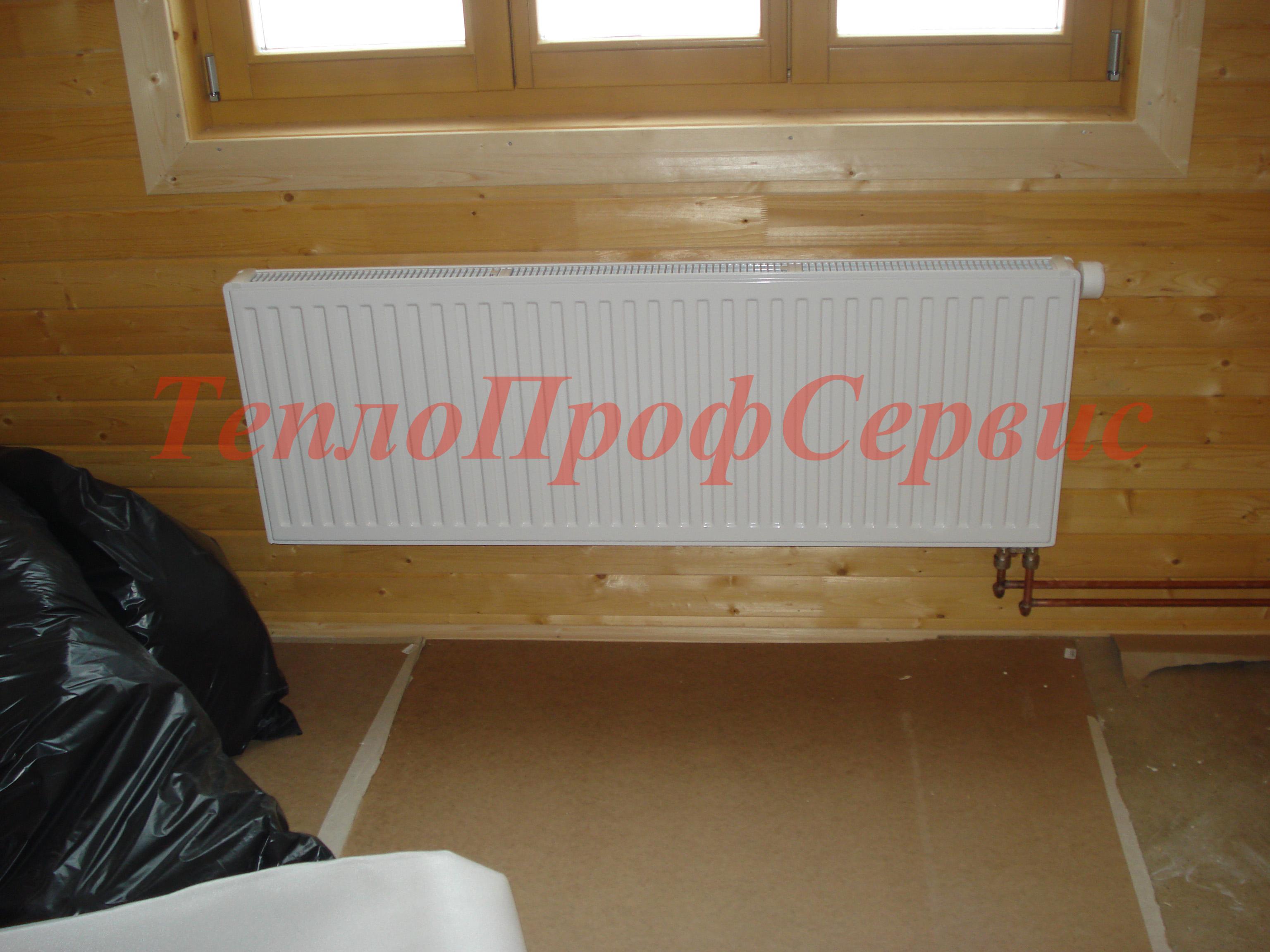Установка радиаторов в доме