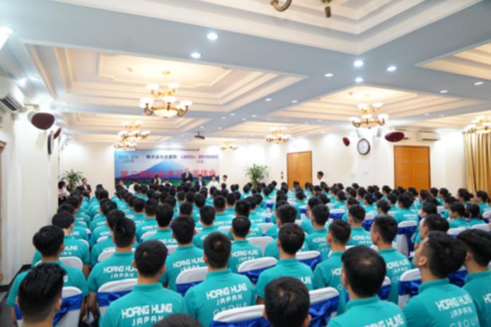 ベトナムハノイ初、某大手食品会社第3期生164名同時採用