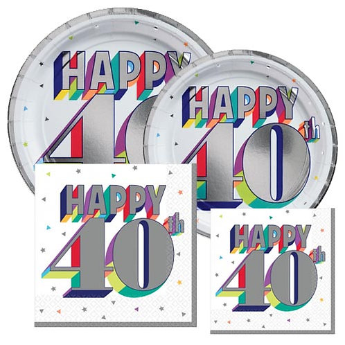 40th Multi Milestone Tableware Kit
