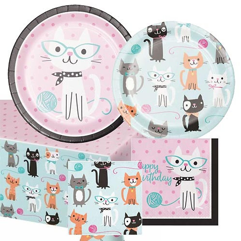Kitten Party Tableware Kit