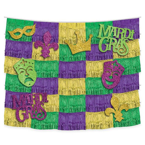 14Pc. Mardi Gras Backdrop Kit