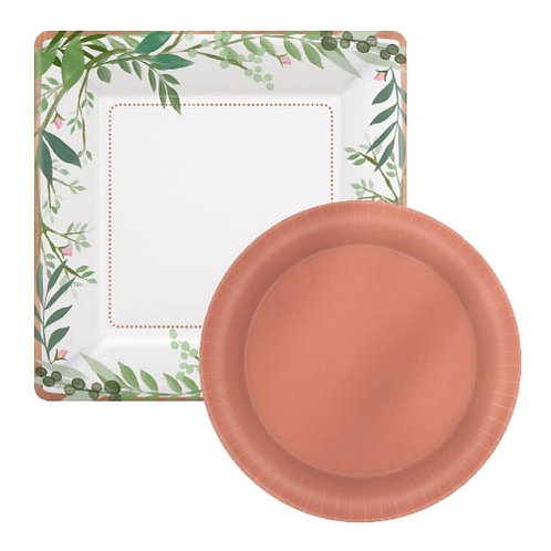 Rose Gold Floral Tableware Kit