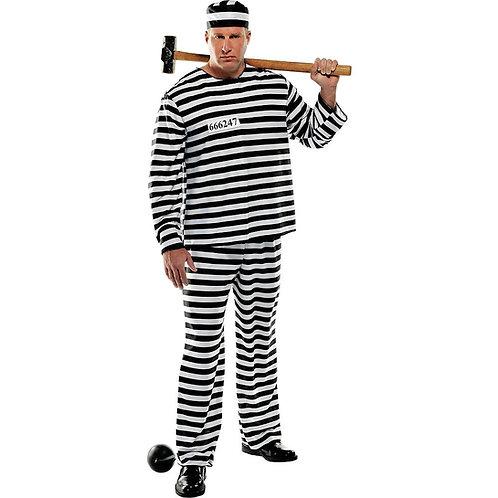 Jailbird Con Men's Plus Costume