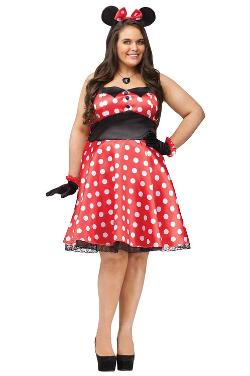 Fantasy Miss Mouse Women's Plus Costume