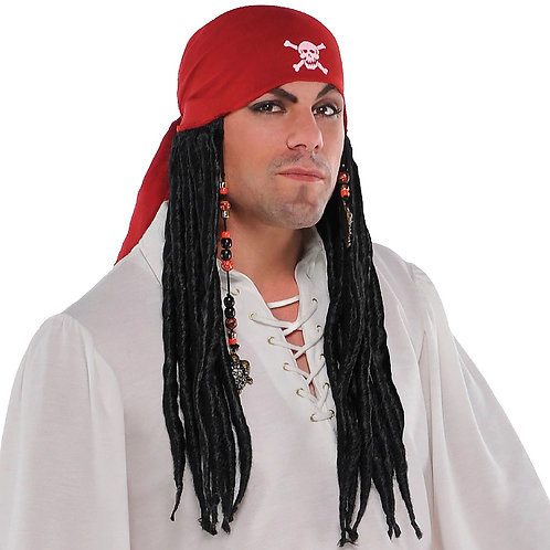 Pirate Bandana with Dreads Wig