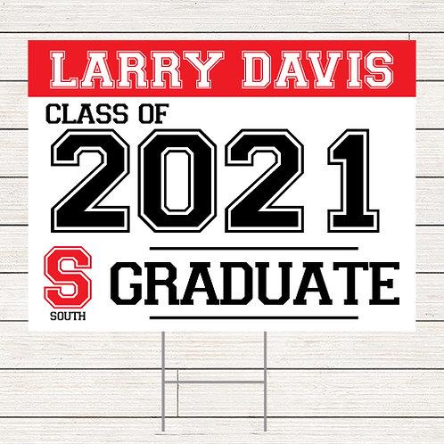 2021 Graduate Yard Sign