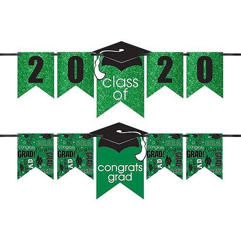 Green Glitter Grad Banner Kit