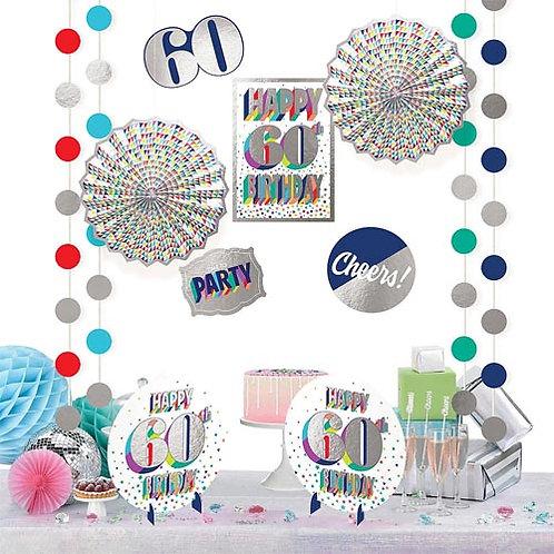 60th Multi Milestone Decorating Kit