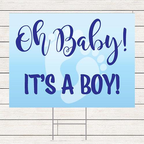 Oh Baby Boy Yard Sign