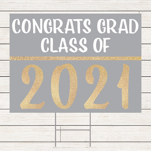 Basic Glitter Grad Yard Sign